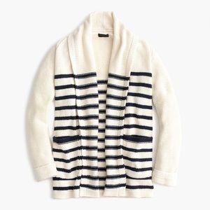 J. Crew long open cardigan sweater in stripe H7141